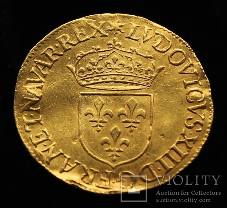 Экюдор 1628-А Людовик XIII Франция золото R