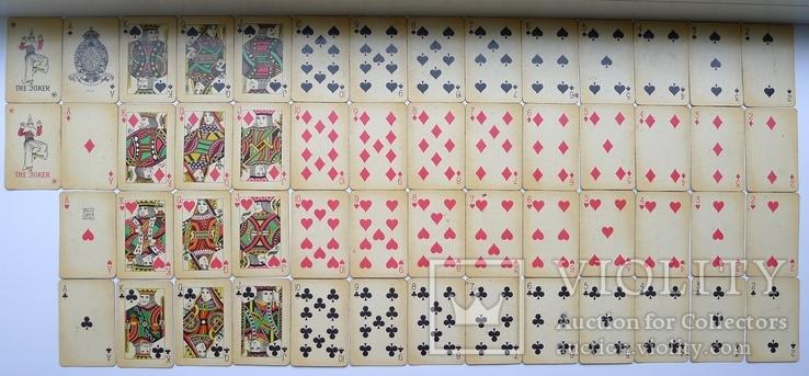 Старые карты для казино в бакелитовом футляре с мастями - 2 колоды., фото №6