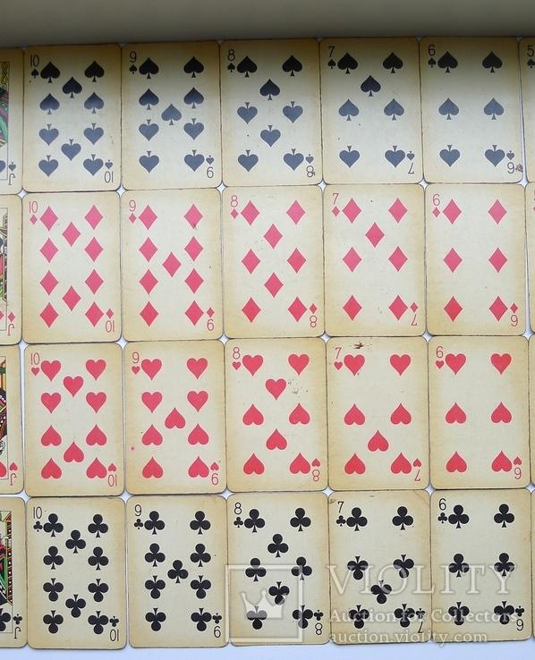 Старые карты для казино в бакелитовом футляре с мастями - 2 колоды., фото №8