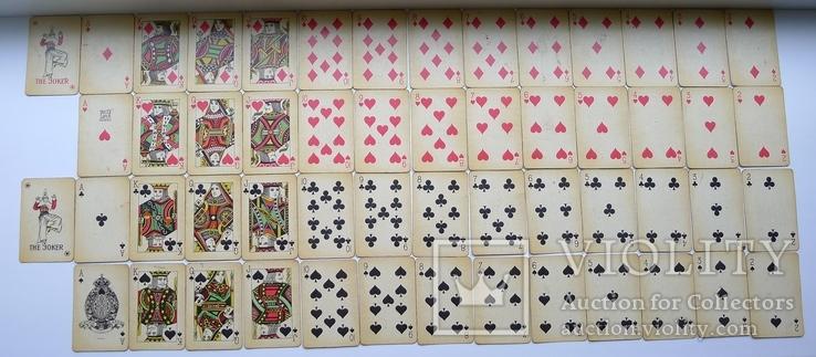 Старые карты для казино в бакелитовом футляре с мастями - 2 колоды., фото №10