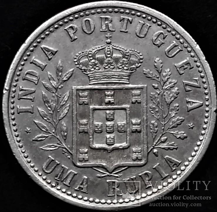1 рупія 1903 року, Португалія, Карлос І, срібло