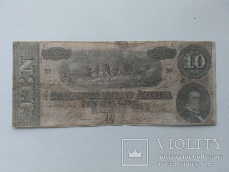 10 долларов 1864