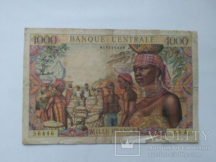 Чад 1000 франков, фото №2