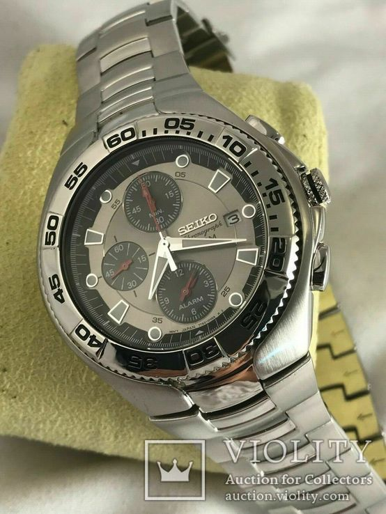 Хронограф Seiko Sport Chronograph Diver SNA625P1 Alarm 7T62-0FT0, фото №9
