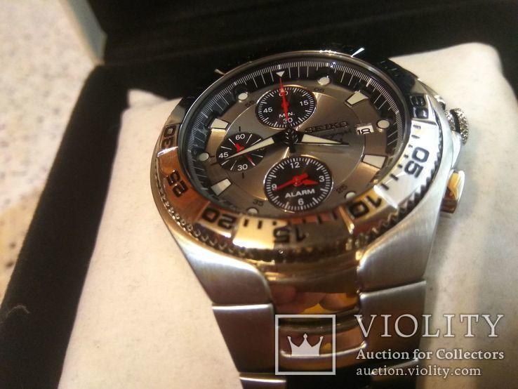 Хронограф Seiko Sport Chronograph Diver SNA625P1 Alarm 7T62-0FT0, фото №13