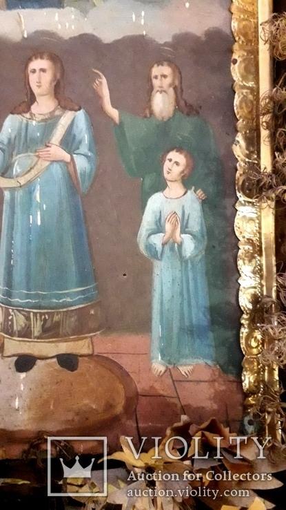 Икона Покрова Пресвятой Богородицы 46 на 53, фото №5