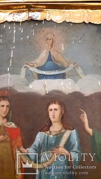 Икона Покрова Пресвятой Богородицы 46 на 53, фото №6