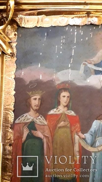 Икона Покрова Пресвятой Богородицы 46 на 53, фото №7