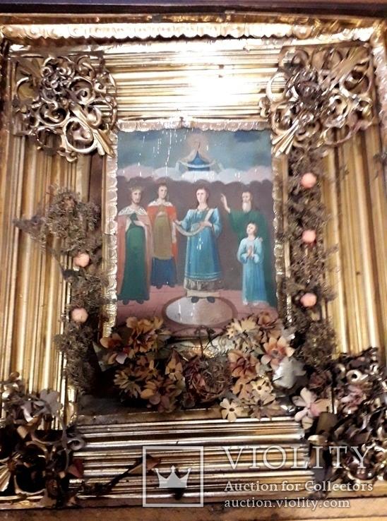 Икона Покрова Пресвятой Богородицы 46 на 53, фото №11