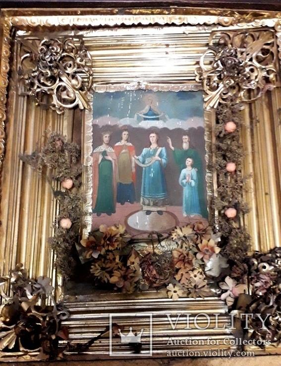 Икона Покрова Пресвятой Богородицы 46 на 53, фото №12