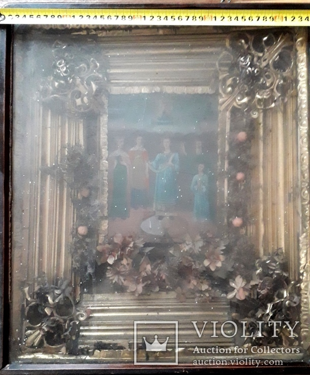 Икона Покрова Пресвятой Богородицы 46 на 53, фото №13
