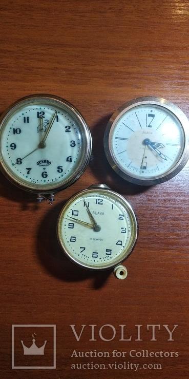 Часы настольные, будильники 3шт., фото №2