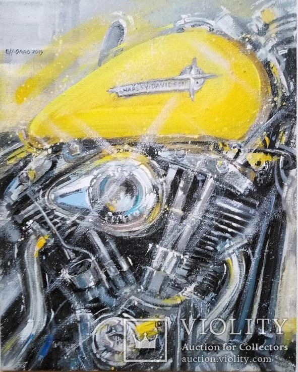 Картина «Harley-Davidson». Художник Ellen ORRO. холст/акрил. 40х50, 2019 г.