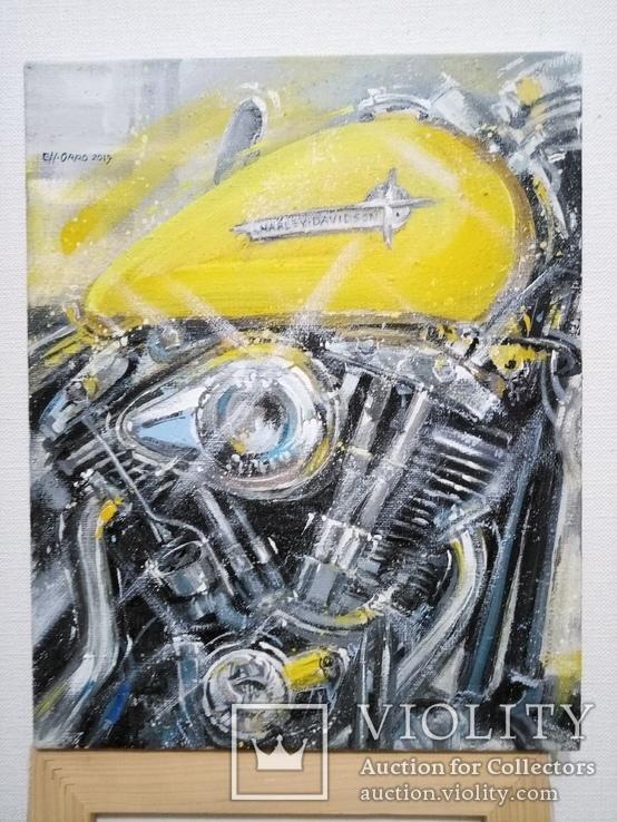 Картина «Harley-Davidson». Художник Ellen ORRO. холст/акрил. 40х50, 2019 г., фото №3