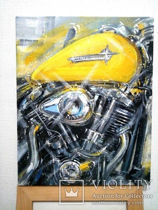 Картина «Harley-Davidson». Художник Ellen ORRO. холст/акрил. 40х50, 2019 г., фото №9