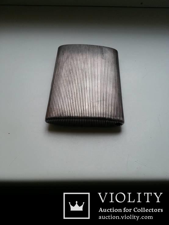 Портсигар Хлебникова серебро 84 пр. 196гр. позолота, фото №3