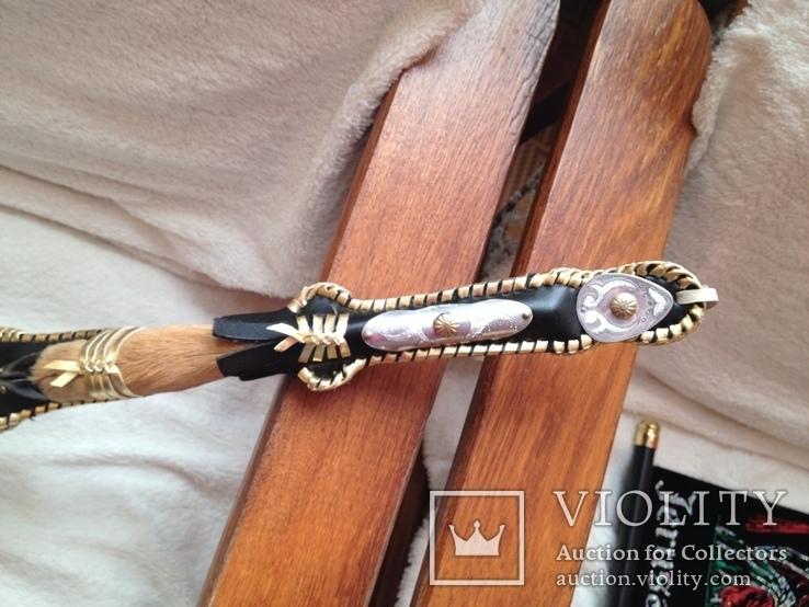 Камча нагайка плетка Казахская новая сувенир козья ножка, фото №2