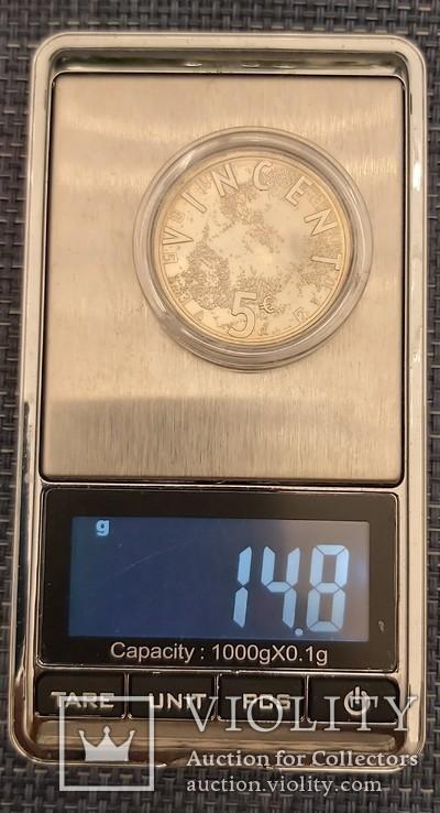 5 евро Нидерланды, 2003год, серебро, фото №3
