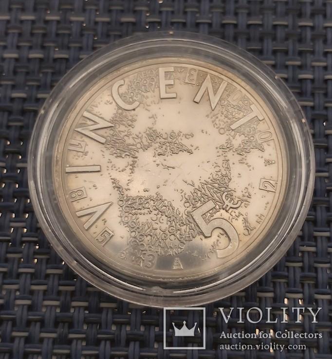 5 евро Нидерланды, 2003год, серебро, фото №5