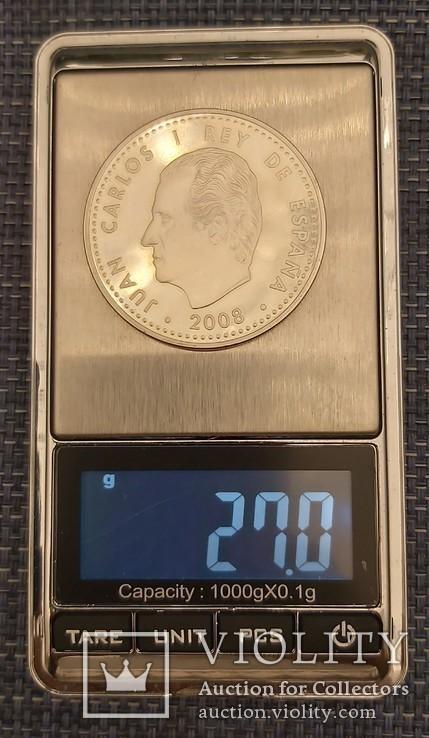 10 евро 2008год, Испания Серебро, фото №3