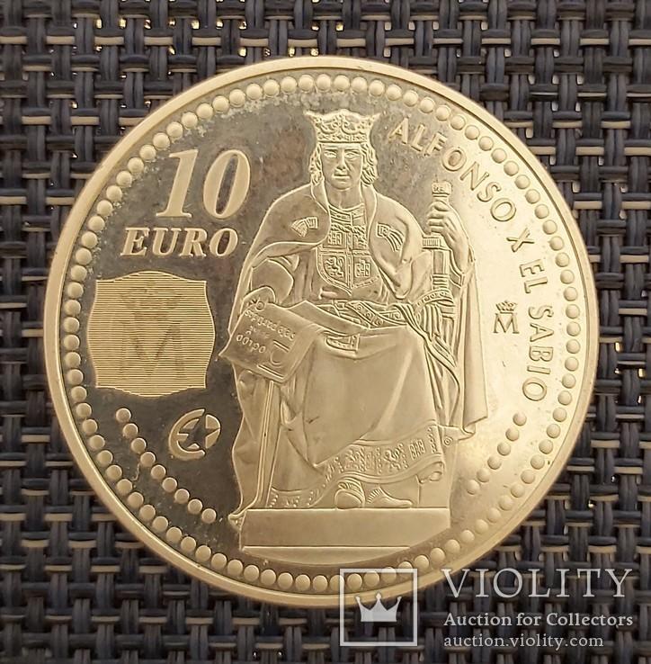 10 евро 2008год, Испания Серебро, фото №4