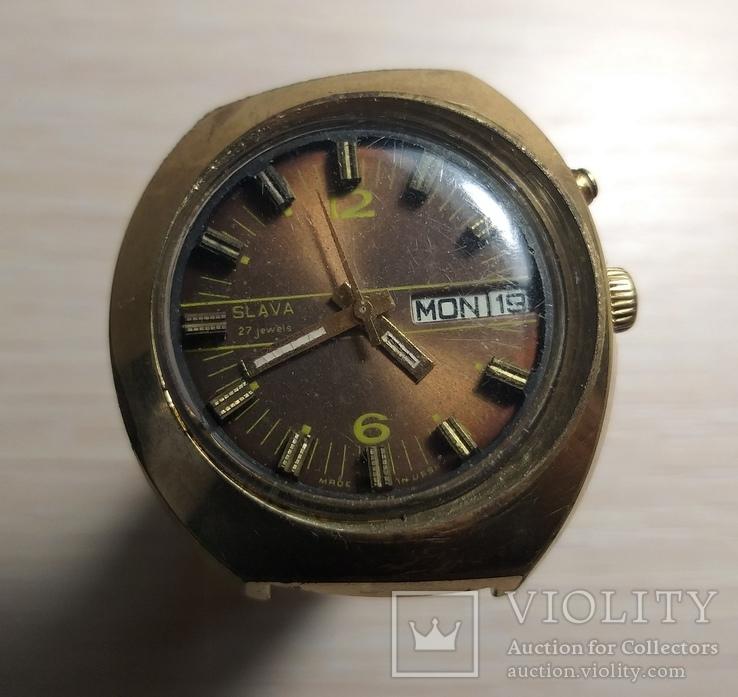 Часы СЛАВА косая асимметричная автомат AU 10, фото №2