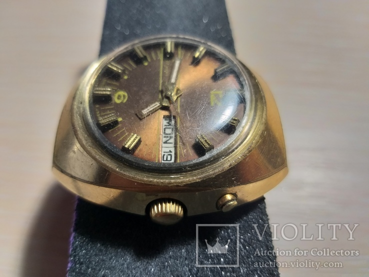 Часы СЛАВА косая асимметричная автомат AU 10, фото №11