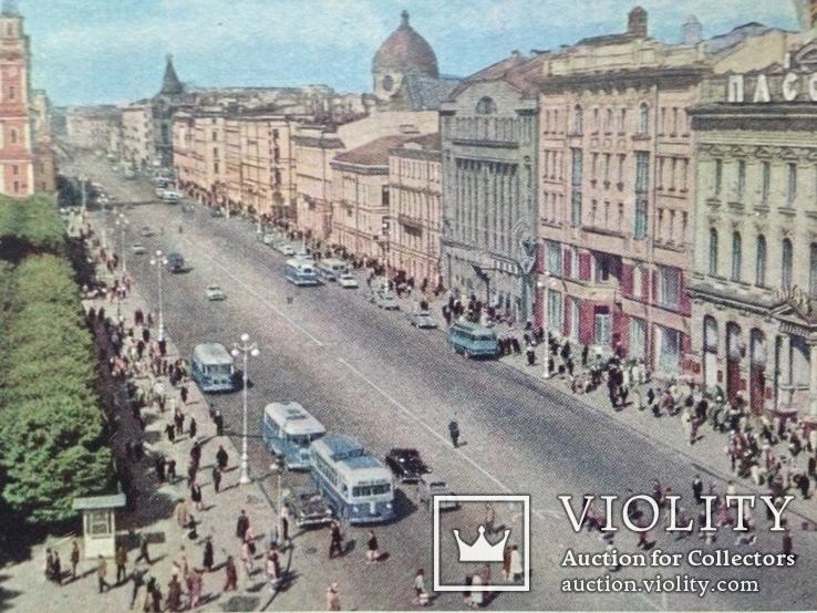 Почтовая карточка 1963  Ленинград Невский проспект подписана, фото №4