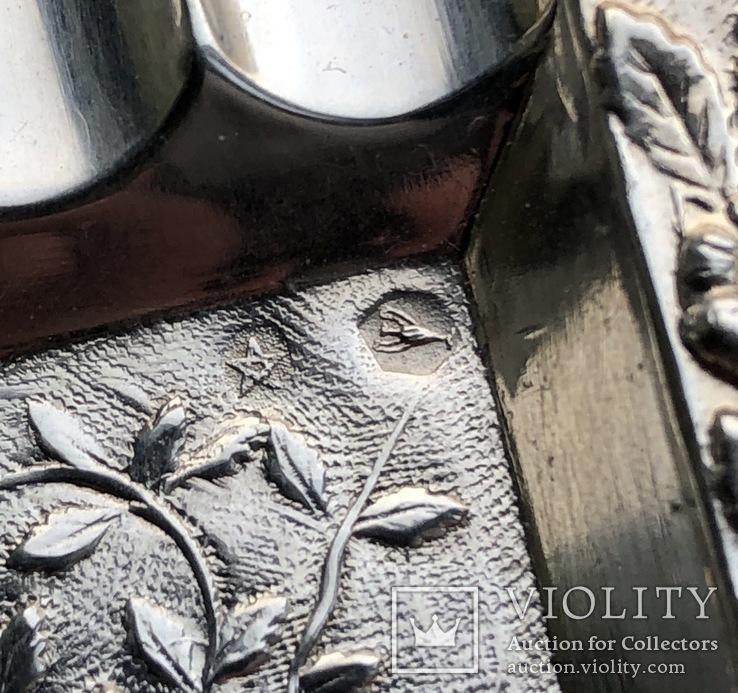 Набор пепельниц серебро 915 Испания, фото №10