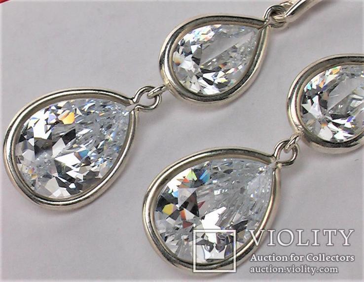 Серьги новые серебро 925 проба 18,32 грамма, фото №4
