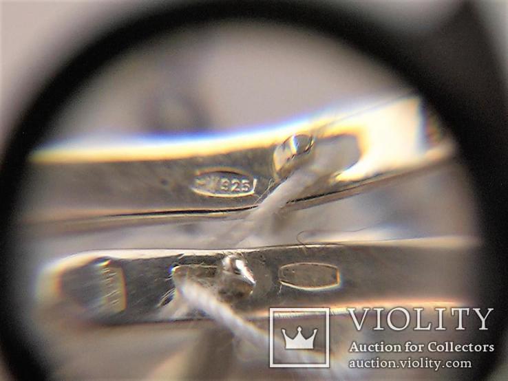 Серьги новые серебро 925 проба 18,32 грамма, фото №9