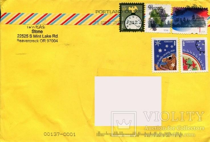 Прошедший почту конверт США Рождество флора растения