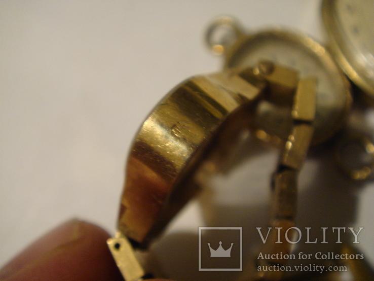 ЧАсы женские 5 шт. ау. позолота, фото №4