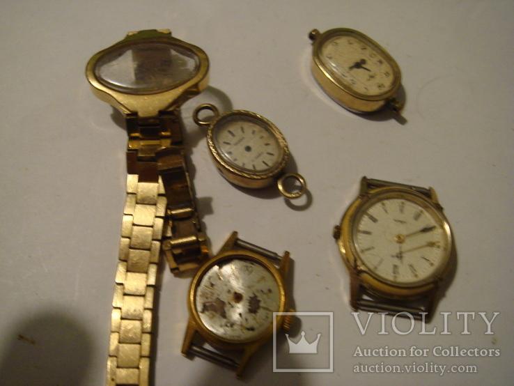 ЧАсы женские 5 шт. ау. позолота, фото №8