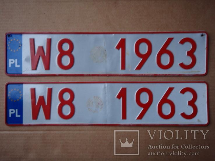 Два номера.  W8 1963 . Алюміній ( 345 грам ), фото №2