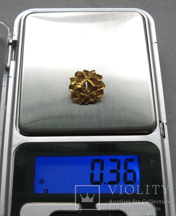 Золотая накладка с крепежными элементами ( усиками )., фото №9