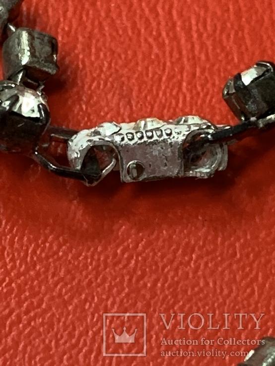 Старые клипсы+ожерелье с кристаллами из горного хрусталя, фото №12