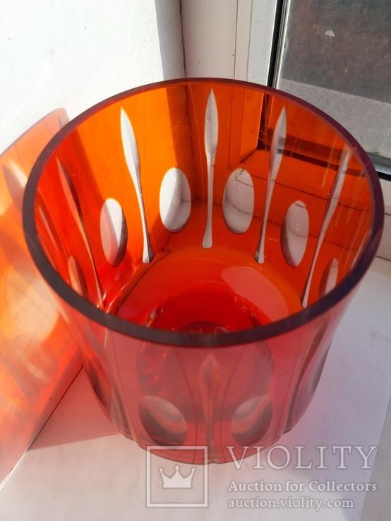 Ваза цветное стекло, фото №5