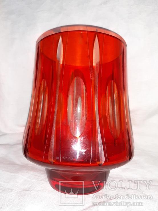 Ваза цветное стекло, фото №8