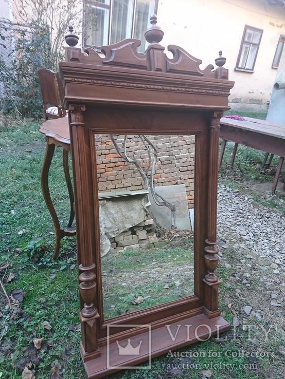 Зеркало, орех, Австро-венгрия, конец 19 века, фото №3