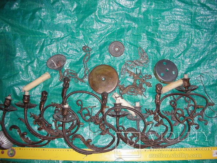 Детали,запчасти для люстр,бра,бронза ,латунь(2), фото №2
