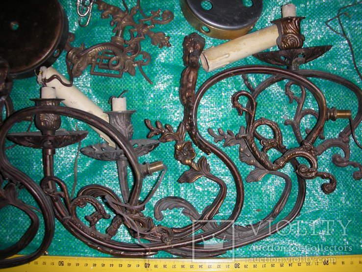 Детали,запчасти для люстр,бра,бронза ,латунь(2), фото №3
