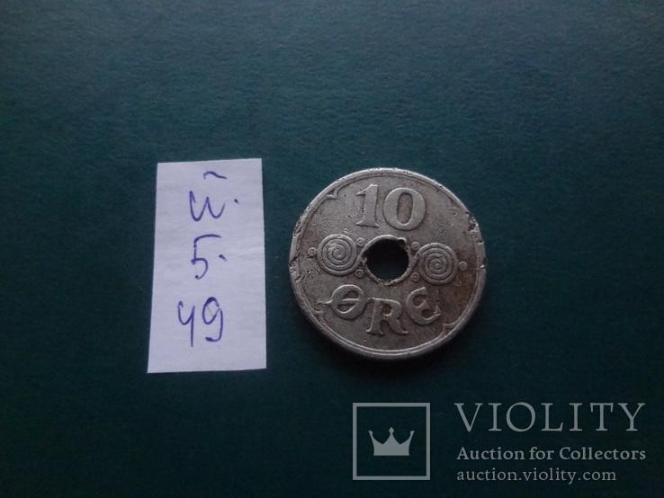10  эре  1940   Дания   (Й.5.49)~, фото №4