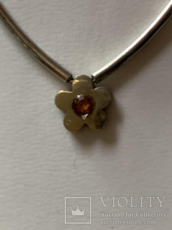Цепочка с кулоном в виде цветочка, фото №3