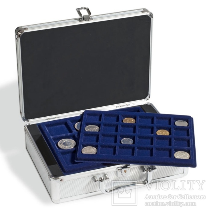 Алюминиевый кофр для монет CARGO S6 + 6 вкладышей, фото №4