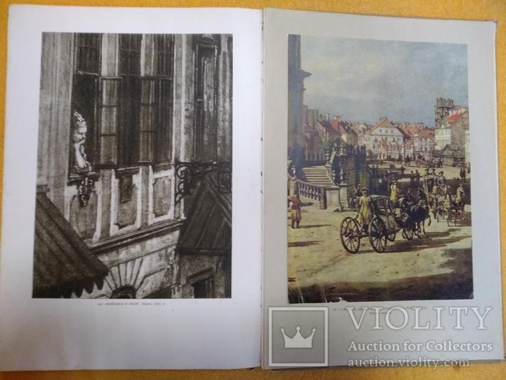 """Книга с иллюстрациями Мечислав Валлис """" Каналетто живописец Варшавы """" 1955 год, фото №11"""