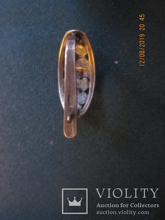 Серьги с цветочным декором. 6,5 гр. новые., фото №5