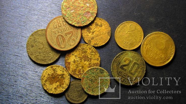 Монеты копаные  11  монет, фото №2