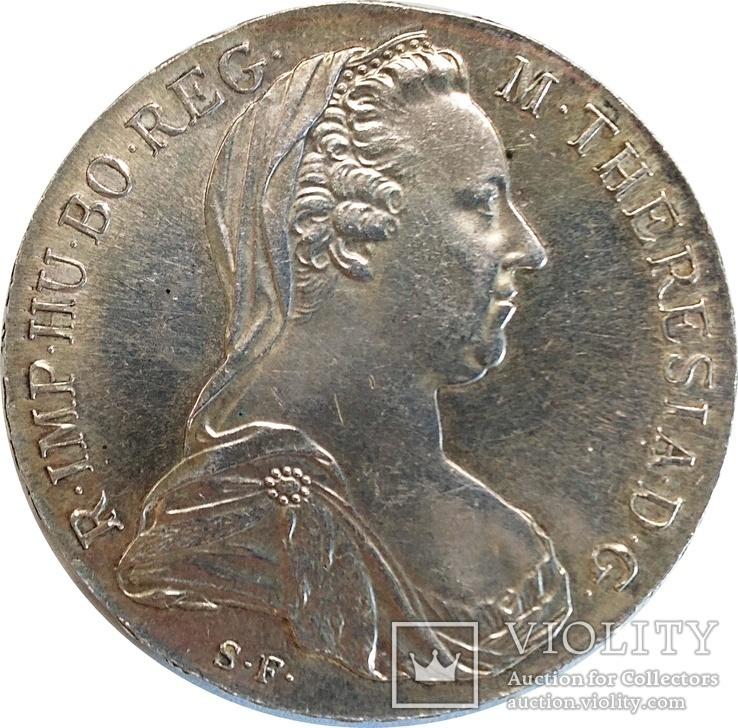 Австрия 1 талер, 1780,серебро,Мария Терезия надпись IUSTITIA ET CLEMENTIА,С219, фото №2