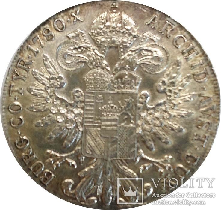 Австрия 1 талер, 1780,серебро,Мария Терезия надпись IUSTITIA ET CLEMENTIА,С219, фото №3